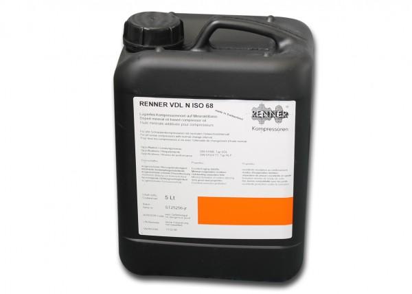 Schraubenkompressorenöl 68 mineralisch (5 Liter), ersetzt 10848